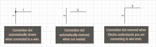 Electra smartly and automatically manages connection dots.